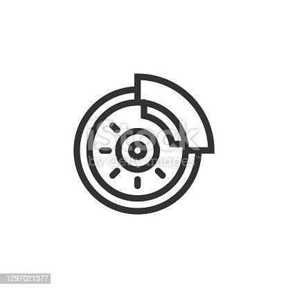 istock Disc Brake Line Icon 1297021377