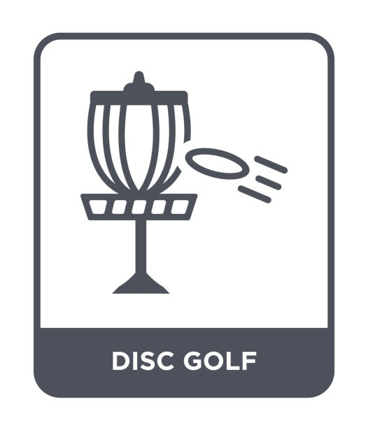 ilustrações de stock, clip art, desenhos animados e ícones de disc golf icon vector on white background, disc golf trendy filled icons from summer collection - golf