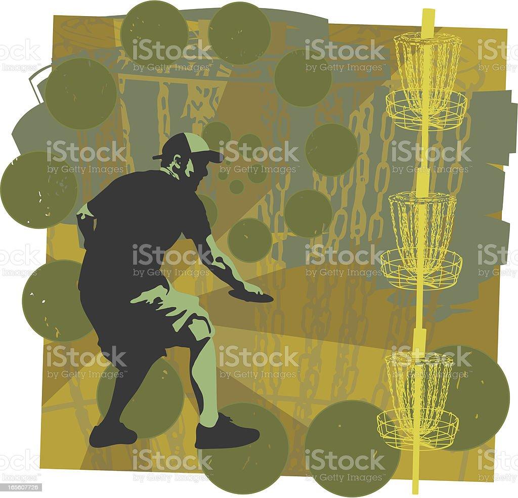 Disc Golf is Fun royalty-free stock vector art