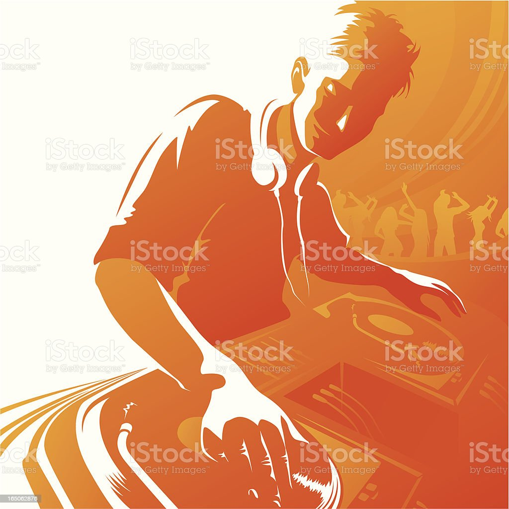 Disc jockey royalty-free disc jockey stock vector art & more images of abstract