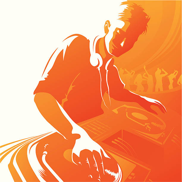 stockillustraties, clipart, cartoons en iconen met disc jockey - dj