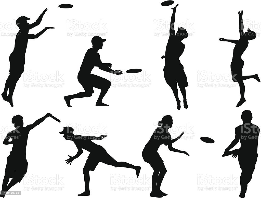 royalty free ultimate frisbee clip art vector images rh istockphoto com Clip Art Frisbee Toss Throwing a Frisbee Clip Art