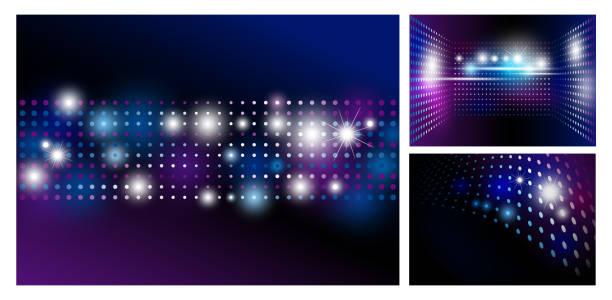 bildbanksillustrationer, clip art samt tecknat material och ikoner med disco abstrakt bakgrund med spot ljus design - dansa disco