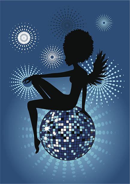 Disco Angel-blue vector art illustration
