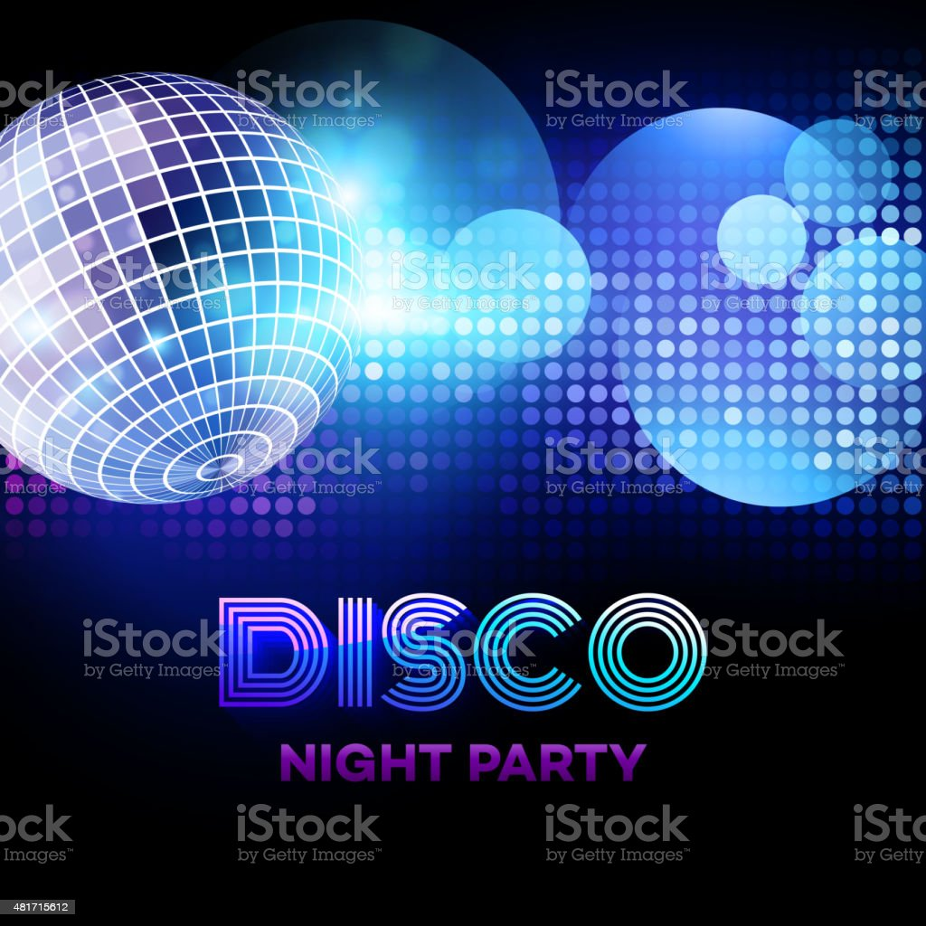 Disco background with discoball. Vector illustration vector art illustration