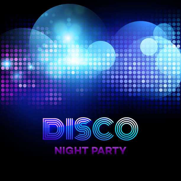 bildbanksillustrationer, clip art samt tecknat material och ikoner med disco background with discoball. vector illustration - dansa disco