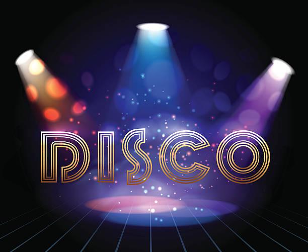 bildbanksillustrationer, clip art samt tecknat material och ikoner med disco background with spotlights - dansa disco