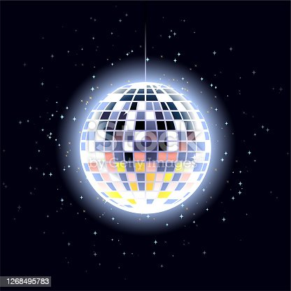 istock Disco ball as Christmas ball 1268495783