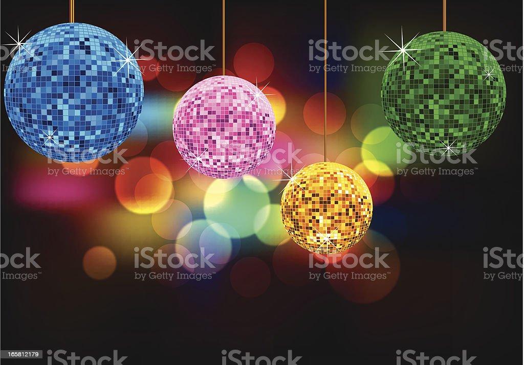Disco Ball Background royalty-free stock vector art