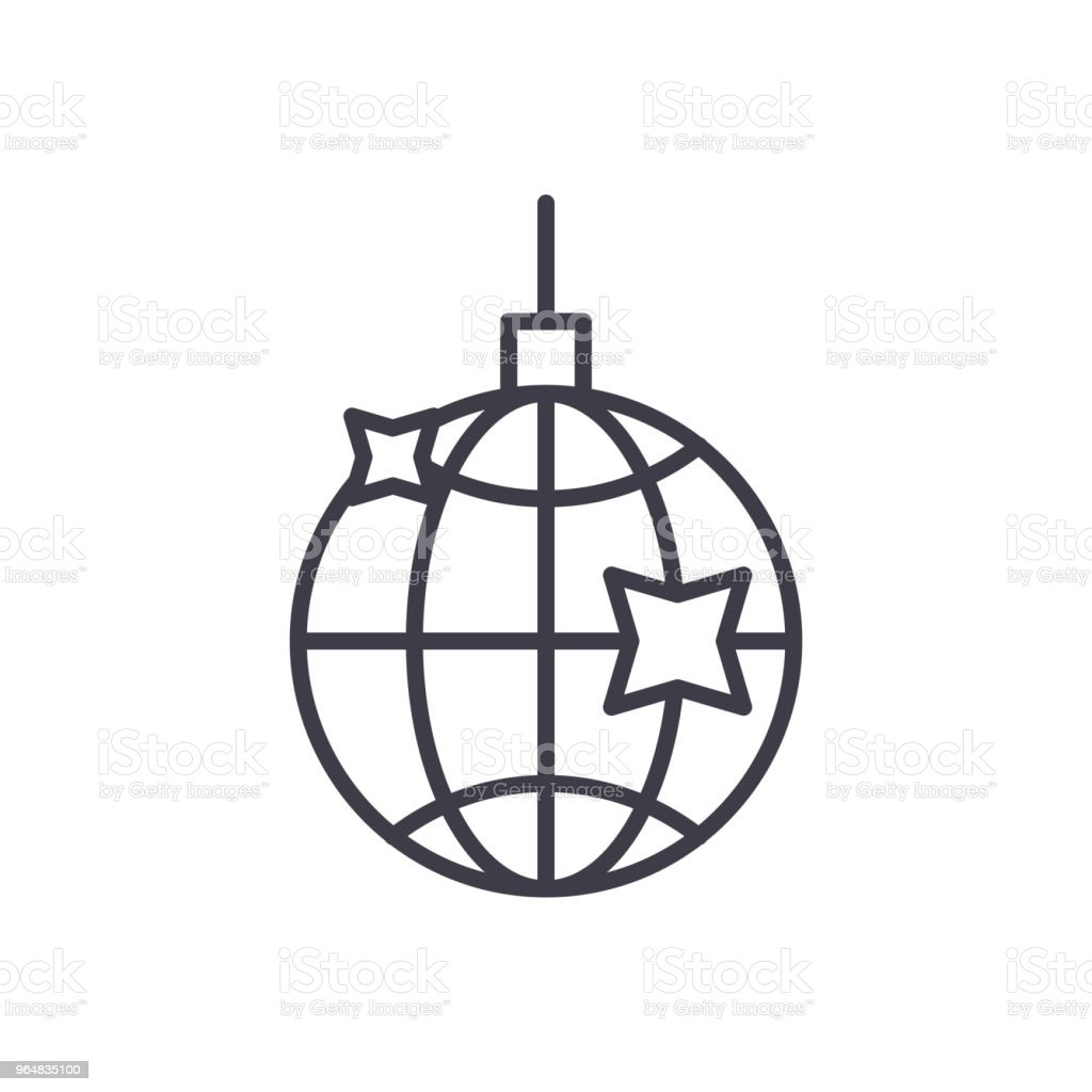 Disco ball black icon concept. Disco ball flat  vector symbol, sign, illustration. royalty-free disco ball black icon concept disco ball flat vector symbol sign illustration stock vector art & more images of art