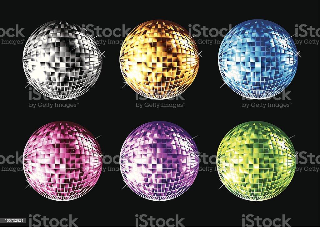 Disco Ball Collection vector art illustration