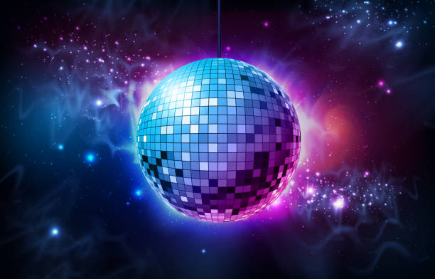 Disco ball. Disco ball on open space background Disco ball. Disco ball on open space background disco ball stock illustrations