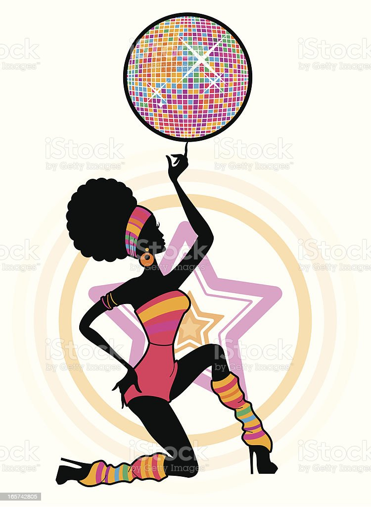 Disco Ball Diva royalty-free stock vector art