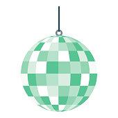 istock Disco Ball Icon on Transparent Background 1283403234