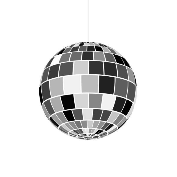 Disco ball icon. Symbol nightlife of 70s. Retro disco party. Vector illustration Disco ball icon. Symbol nightlife of 70s. Retro disco party. Vector illustration disco ball stock illustrations