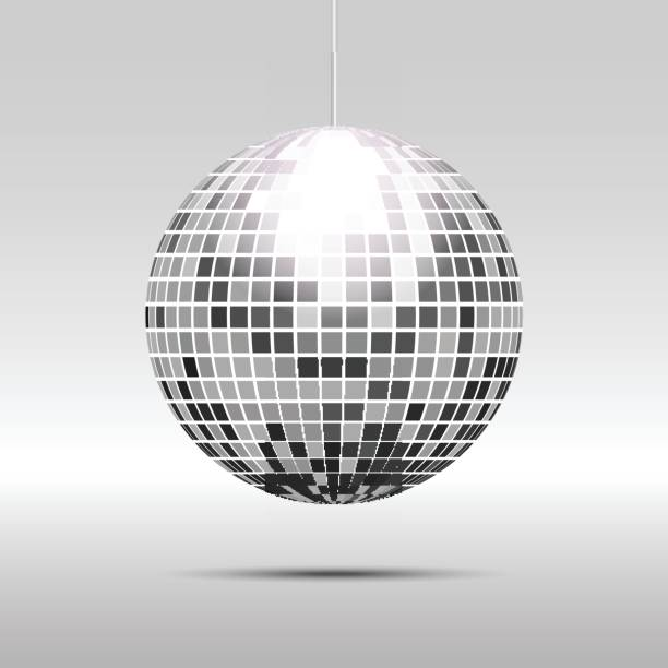 Disco ball icon Disco ball icon isolated on grayscale background disco ball stock illustrations