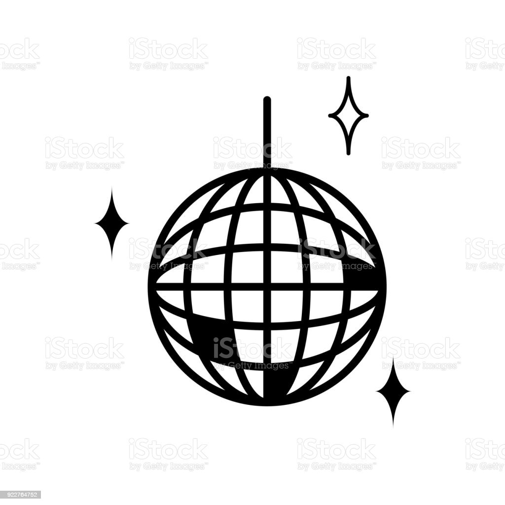disco ball icon stock vector art more images of abstract 922764752 rh istockphoto com disco ball vector image disco ball vector image