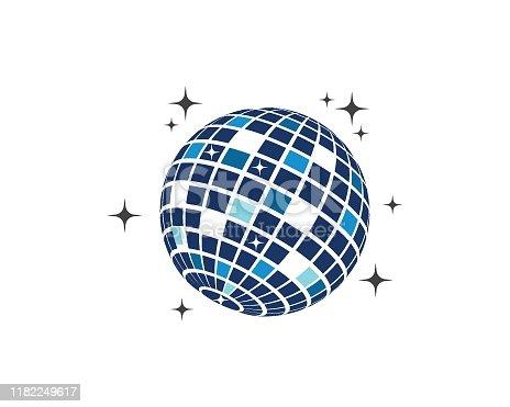 disco ball icon vector illustration design template