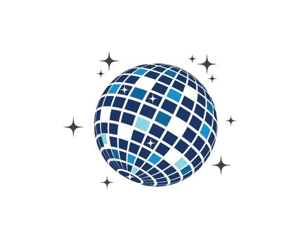 disco ball icon vector illustration design disco ball icon vector illustration design template disco ball stock illustrations