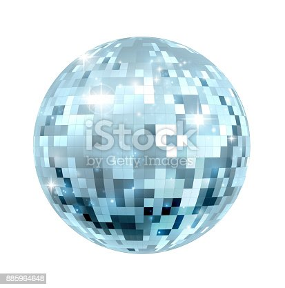 istock Disco Ball Illustration 885964648