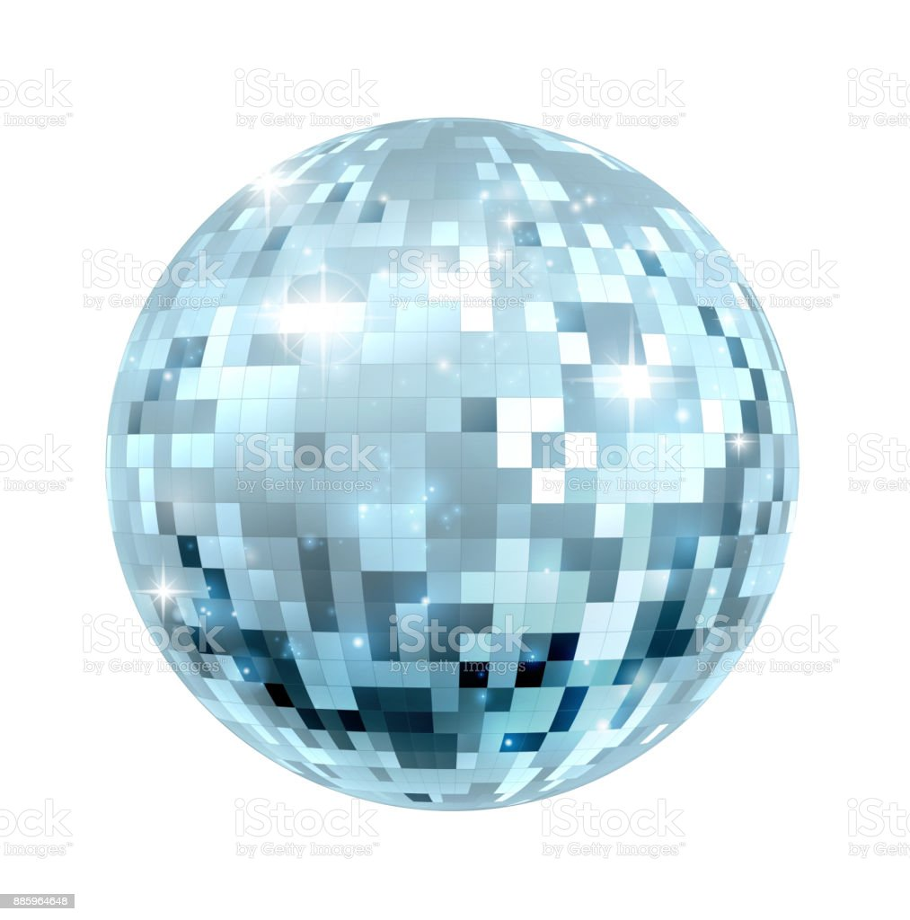 Disco Ball Illustration vector art illustration