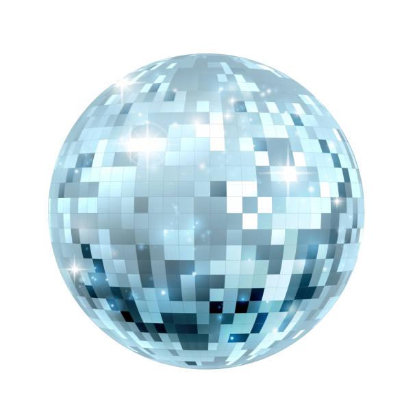 Disco Ball Illustration A glitter disco mirror ball nightclub decoration disco dancing stock illustrations