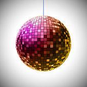 Disco ball – stock vector