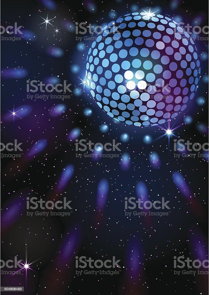 Disco Ball. Vector background. royalty-free stock vector art