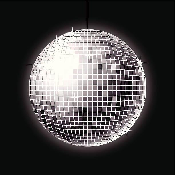 disco ball a shiny disco ball design. this editable vector file contains eps8, aics3, ai10 and 300dpi jpeg formats. disco ball stock illustrations