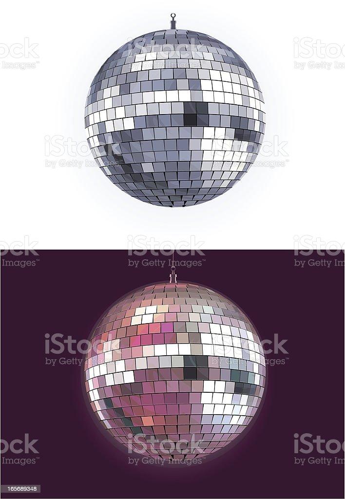 Disco ball vector art illustration