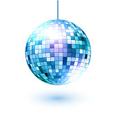 Disco ball. Vector illustration. Isolated.