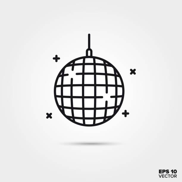Disco ball vector line icon Disco ball line icon vector illustration. Nightlife and entertainment symbol. disco ball stock illustrations