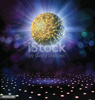 istock Disco Ball with Rays 593332390