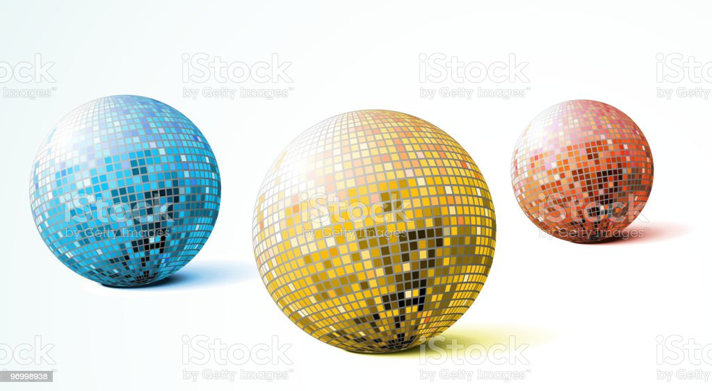 disco balls royalty-free stock vector art