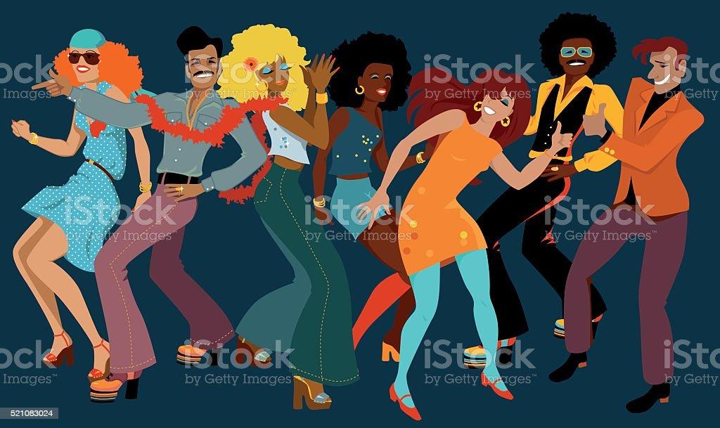 Disco Club vector art illustration