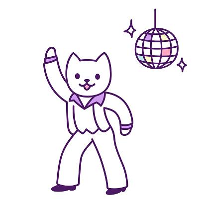 Disco dancer cat