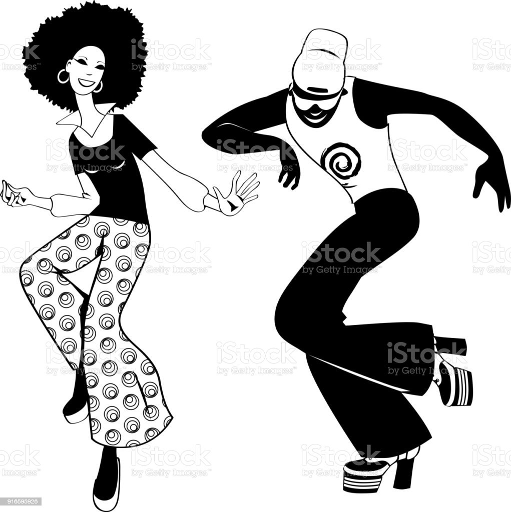 disco dancers clipart stock vector art more images of adult rh istockphoto com dancer clip art free silhouette dancers clip art public domain