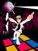 Disco dancer illustration