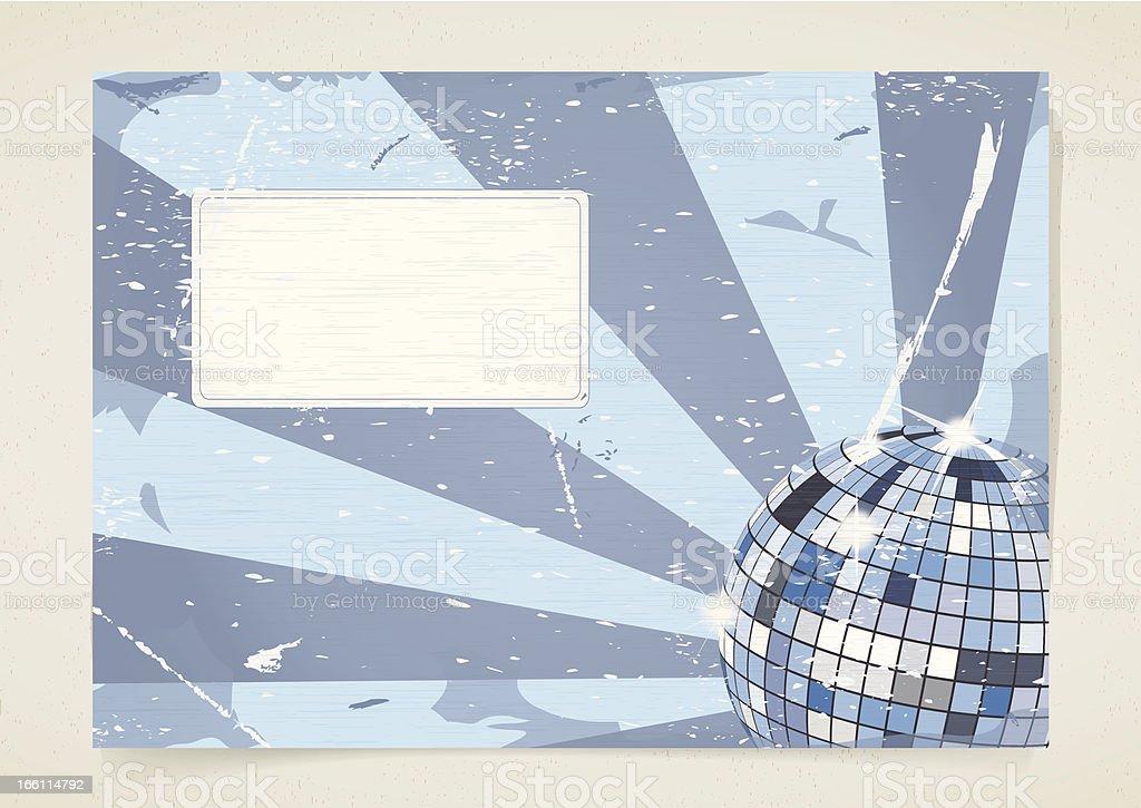 Disco grunge card royalty-free stock vector art