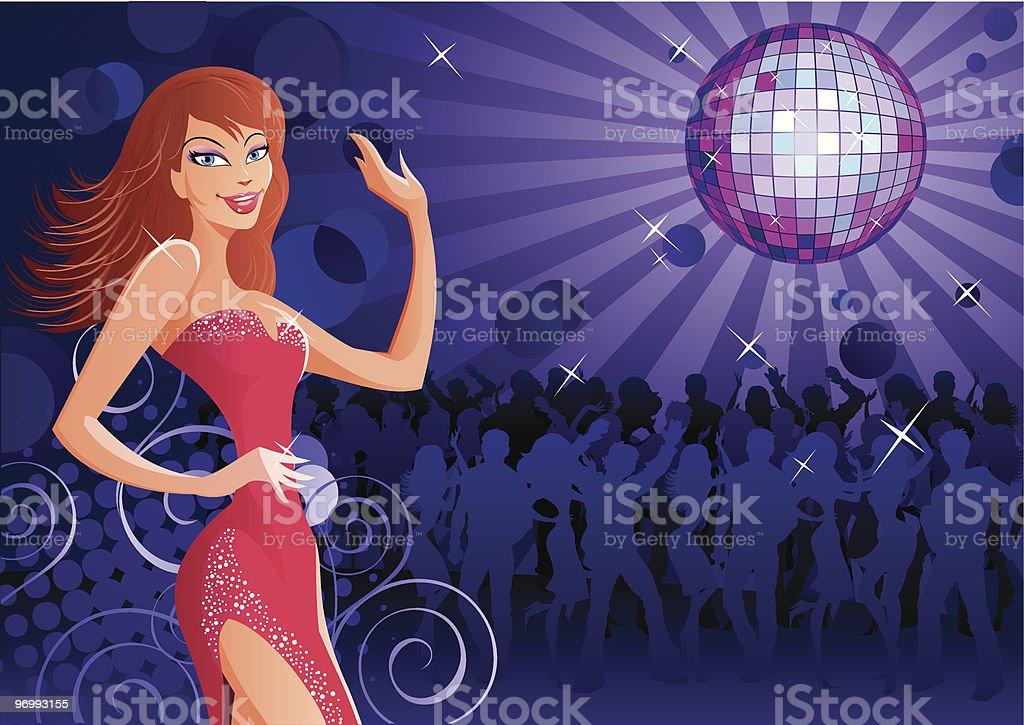 Disco lady 2 royalty-free stock vector art