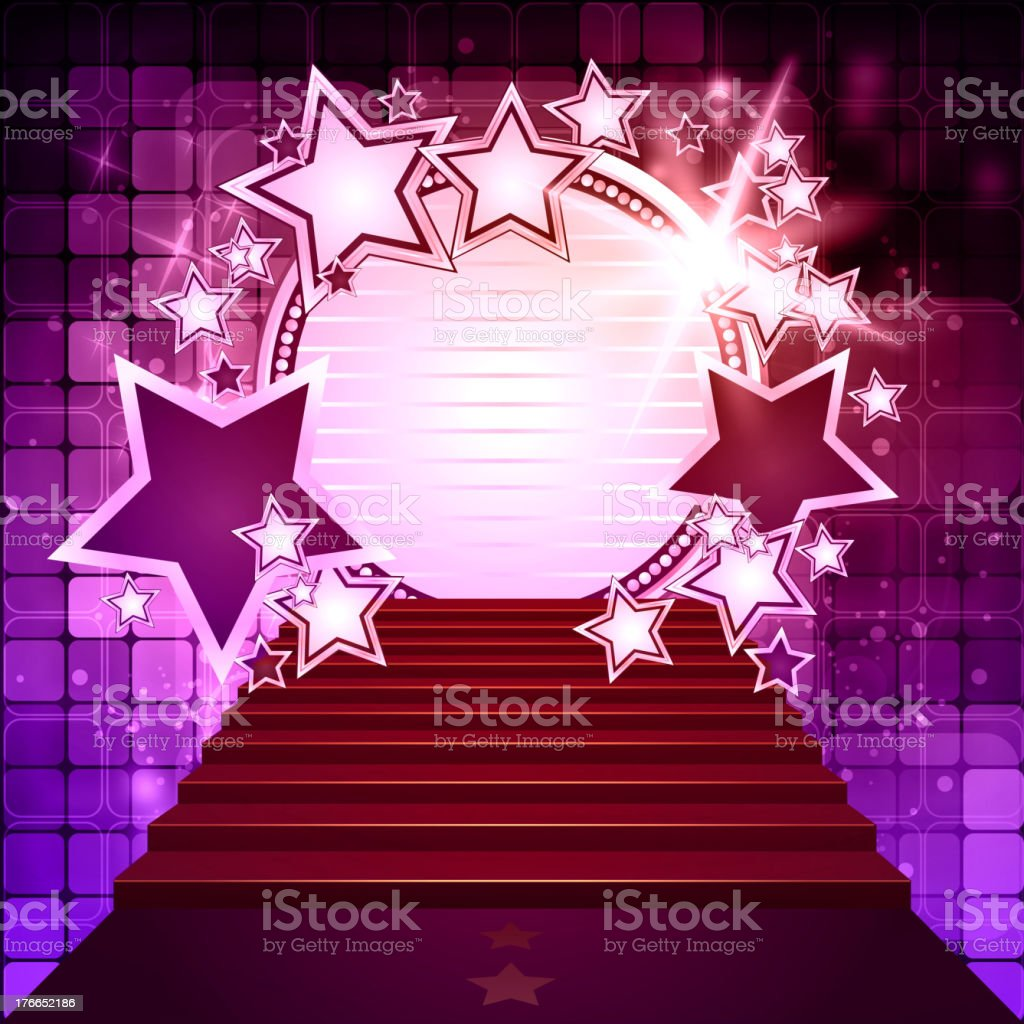 Disco Lights Background with Marquee Display royalty-free disco lights background with marquee display stock vector art & more images of achievement