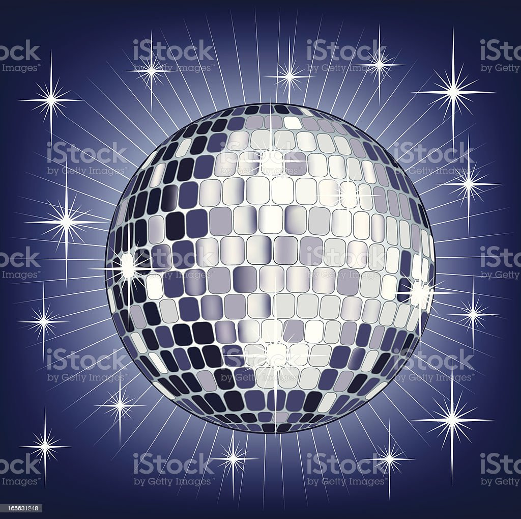 Disco mirror ball royalty-free stock vector art