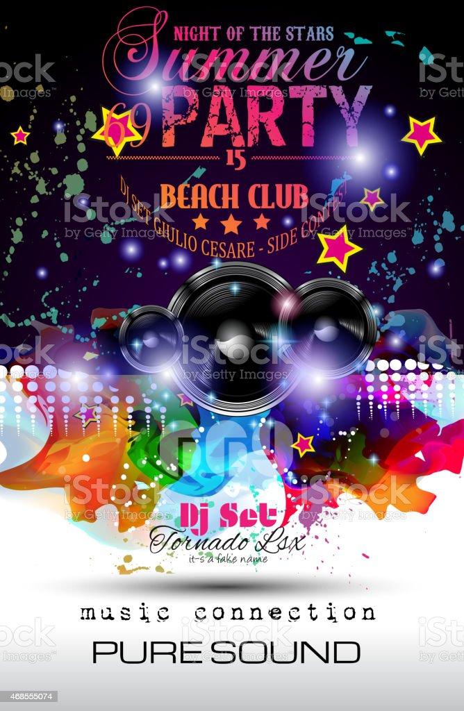 Ilustración de Club Nocturno Discoteca Diseño De Flyer Con Altavoz ...