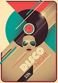 Disco night poster design.