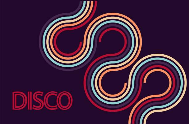 stockillustraties, clipart, cartoons en iconen met disco party achtergrond vector. 70s geïnspireerd poster. - seventies