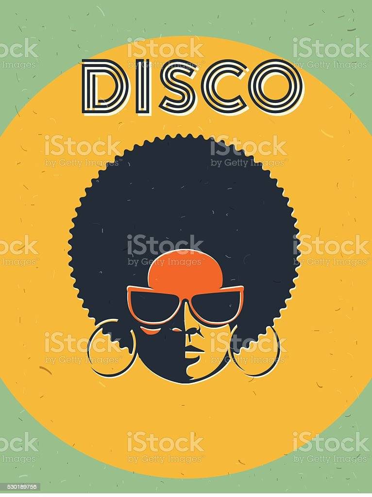 Disco party event flyer. Creative vintage poster vector art illustration
