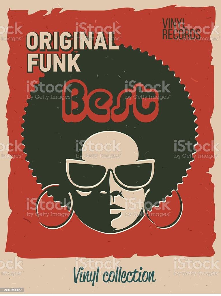 Disco party event flyer. Creative vintage poster. vector art illustration
