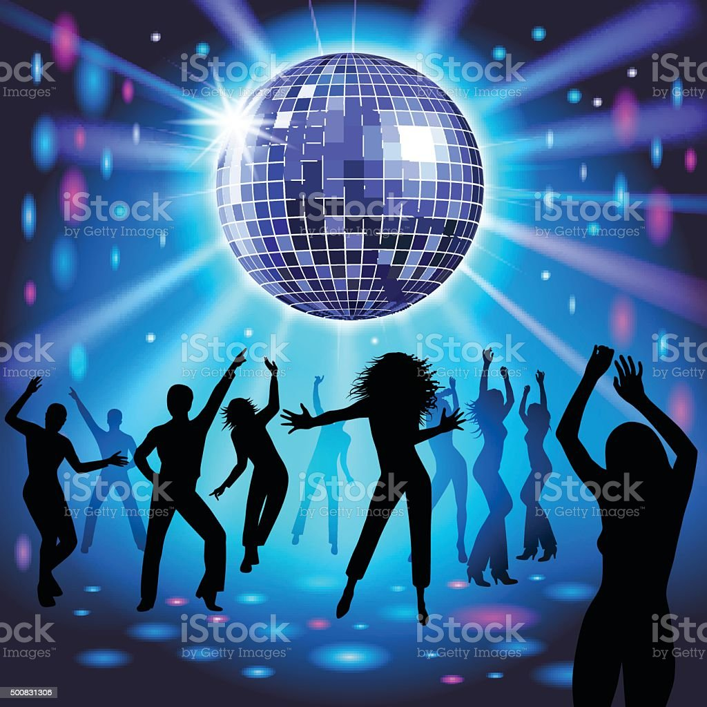 Disco party vector art illustration