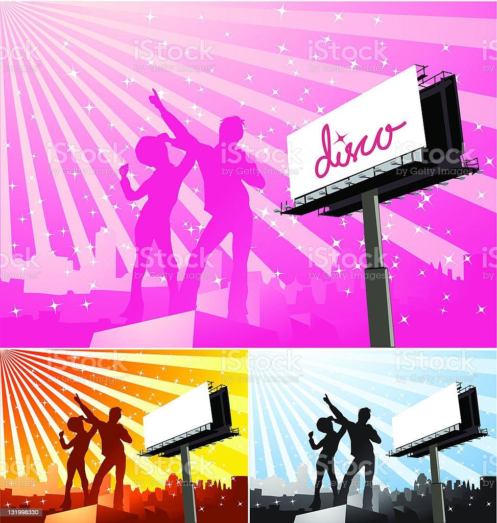 Disco superstars royalty-free stock vector art