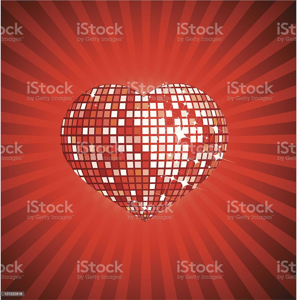 Disco valentines heart royalty-free stock vector art